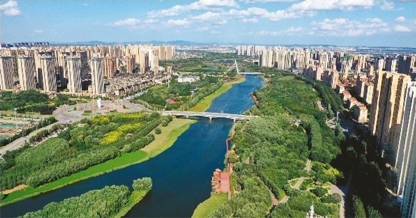 哈尔滨市沈北新区蒲河生态廊道:水清岸绿景色美