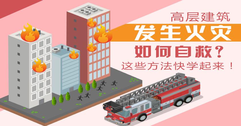 高层建筑发生火灾如何自救?这些方法快学起来!